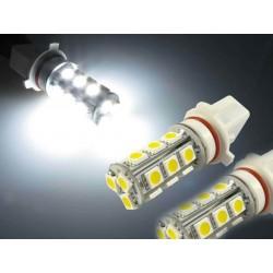 2 x 18 LED SMD Bulbs - P13W - White