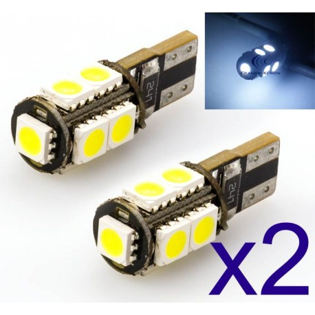 2 x AMPOULES 5 LEDS SMD CANBUS - T10 W5W