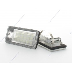 Targa LED VAG AUDI A3 8P, A4 B7, Q7, A6 C6 (type A)- BLANC 6000K