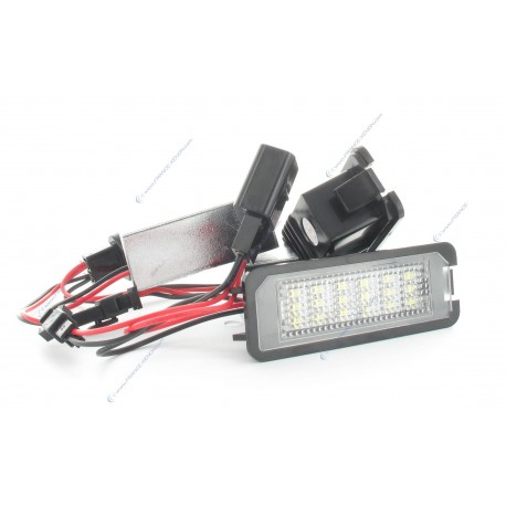 License plate LED SET for GOLF 6, GOLF 7, Scirocco, Skoda octavia 2, Seat Leon 2 (type B)- WHITE 6000K