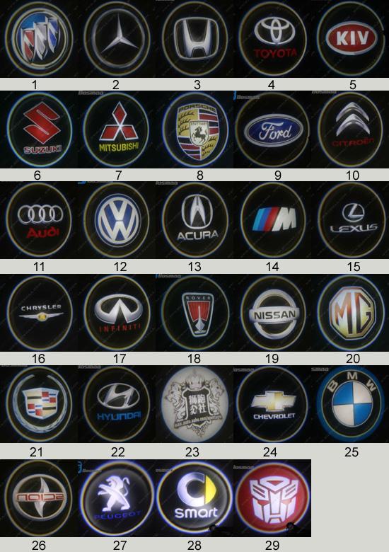 logo laser courtoisie cree pour voiture