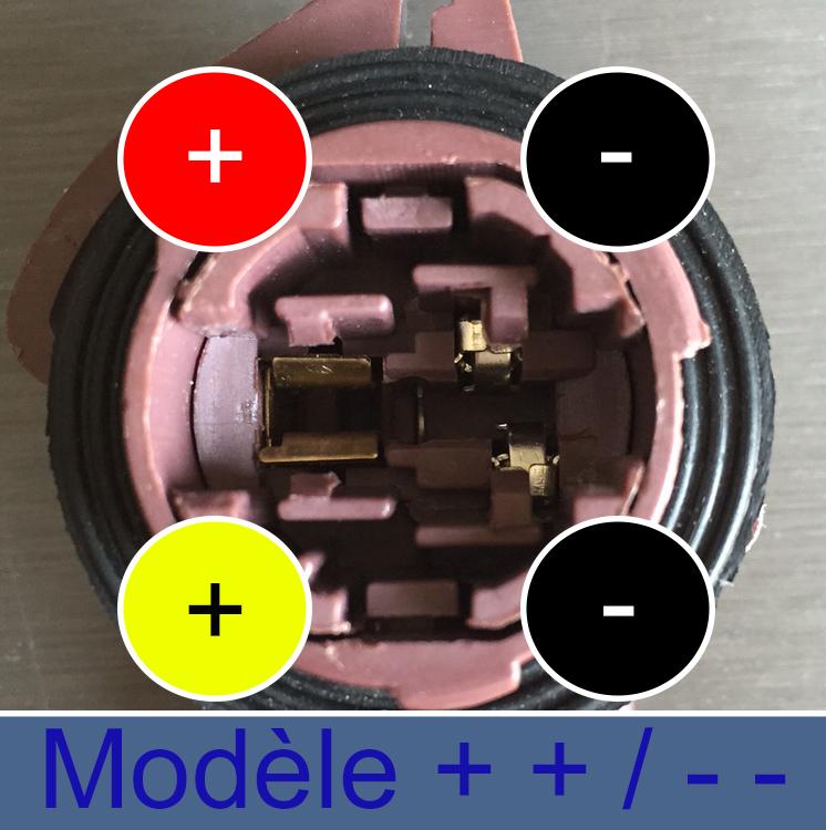 W21/5W brochage ++ -- ampoule LED