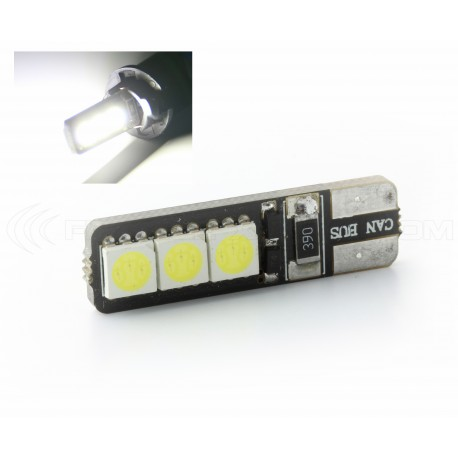 6 LEDS SMD CANBUS - T10 W5W Lampen